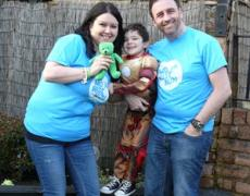 Picture of the Cubbin family ahead of the event