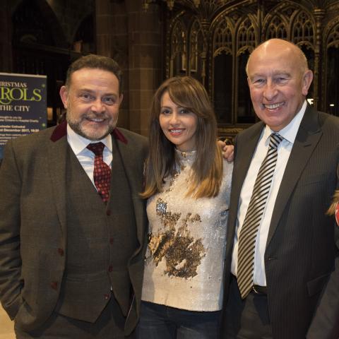 John Thomson, Samia Longchambon, Maurice Watkins CBE and Kym Marsh