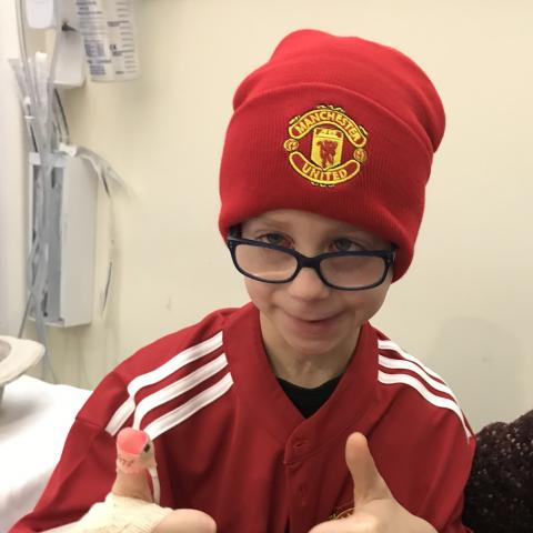 Max whilst in Royal Manchester Children's Hospital