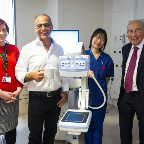 Theo Paphitis sees the new Mini C-Arm at Royal Manchester Children's Hospital